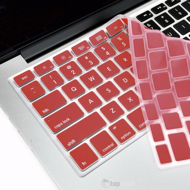 "TOP CASE WINE RED Silicone Keyboard Cover Skin for All Macbook 13"" 15"" 17"""
