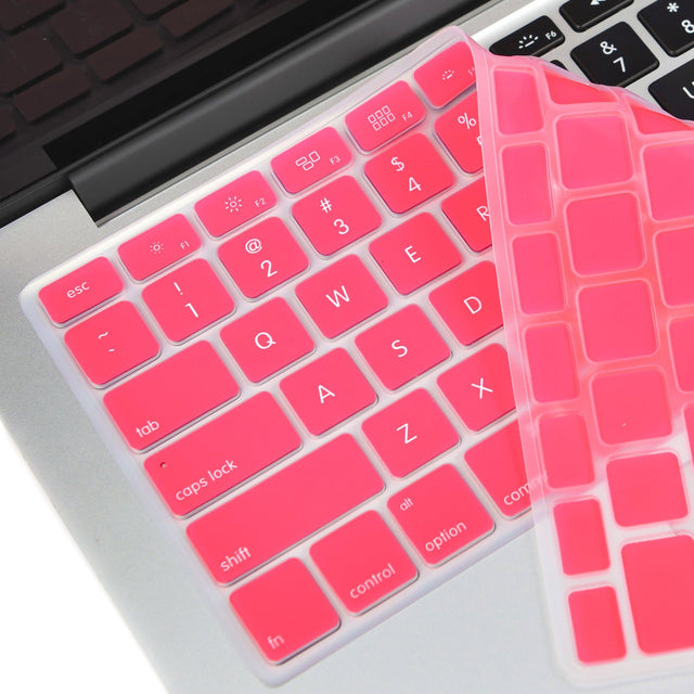 "TOP CASE PINK Silicone Keyboard Skin for All Macbook 13"" 15"" 17"""
