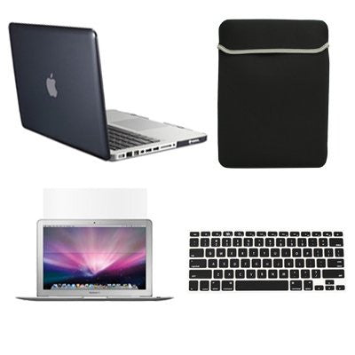 "TOP CASE 4 in 1 - Macbook Pro 13"" A1278 Crystal Hard Cover + Sleeve + Keyboard Cover + LCD (CLEAR)"
