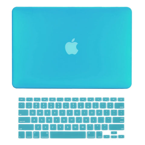 "TOP CASE 2 in 1 - Macbook Pro 13"" Matte Case + Keyboard Skin - Aqua Blue"