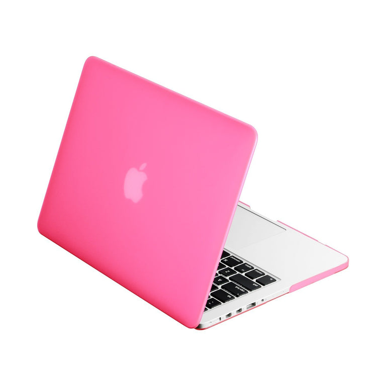 "Hot Pink Rubberized Hard Case Cover for MacBook Pro 13"" (13"" Diagonally) with Retina Display (Old Gen. 2012-2015) Model: A1425 and A1502"