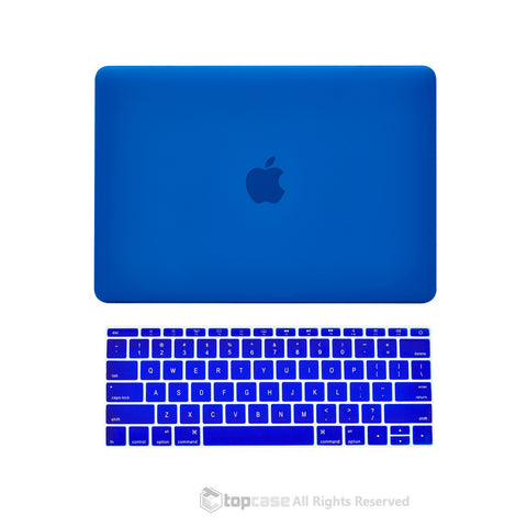"TOP CASE 2 in 1 – Macbook Retina 12"" Rubberized Case + Keyboard Skin - Royal Blue"