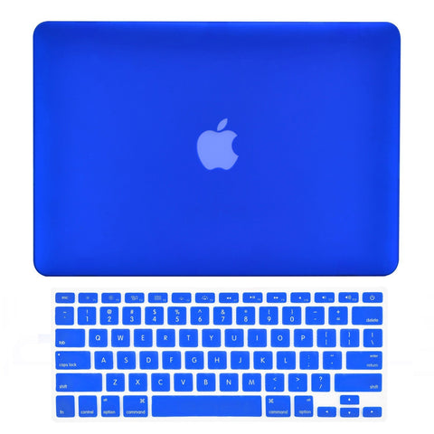 "TOP CASE 2 in 1 - Macbook Air 13"" Rubberized Case Cover + Keyboard Cover - Royal Blue"