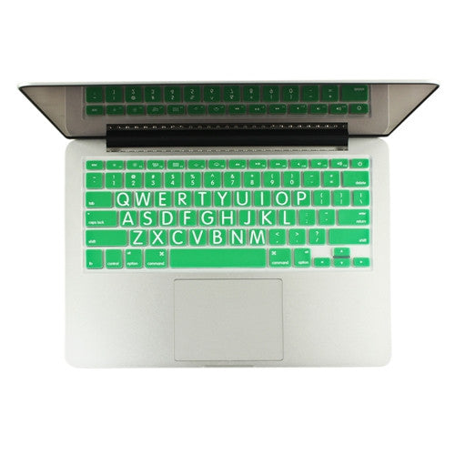"Extra Bold GREEN Large Print Silicone Keyboard Cover Skin for Macbook 13"" 15"" 17"" - TOP CASE"