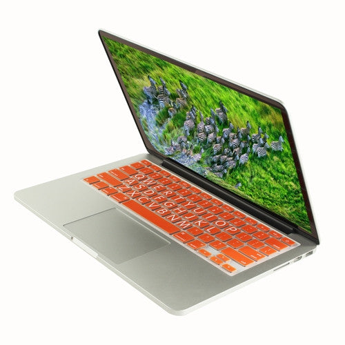 "Extra Bold ORANGE Large Print Silicone Keyboard Cover Skin for Macbook 13"" 15"" 17"" - TOP CASE"