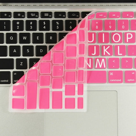 "Extra Bold LIGHT PINK Large Print Silicone Keyboard Cover Skin for Macbook 13"" 15"" 17"" - TOP CASE"