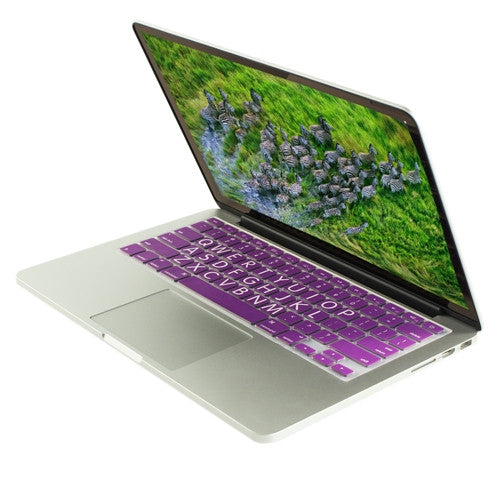"Extra Bold PURPLE Large Print Silicone Keyboard Cover Skin for Macbook 13"" 15"" 17"" - TOP CASE"