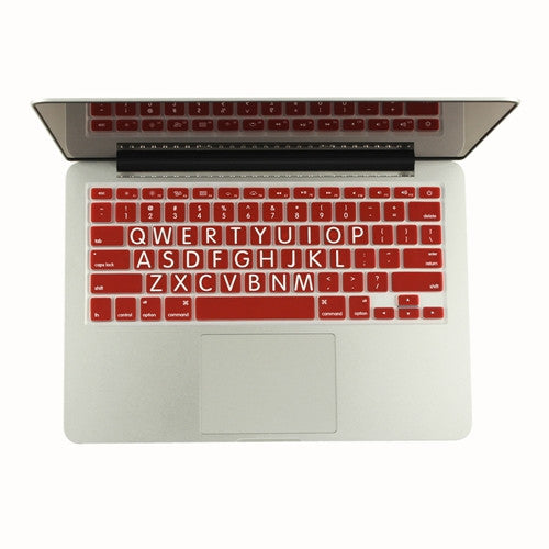 "Extra Bold RED Large Print Silicone Keyboard Cover Skin for Macbook 13"" 15"" 17"""