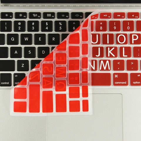 "Extra Bold RED Large Print Silicone Keyboard Cover Skin for Macbook 13"" 15"" 17"" - TOP CASE"