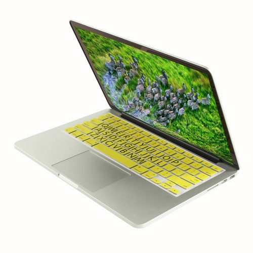 "Extra Bold YELLOW Large Print Silicone Keyboard Cover Skin for Macbook 13"" 15"" 17"" - TOP CASE"