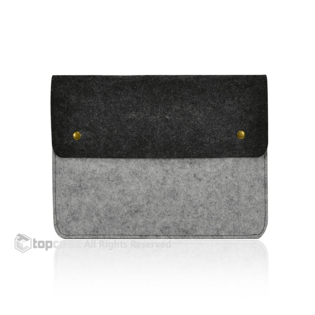 "Felt Environmental Gray Sleeve Bag / Carrying Case with Button Closure for Apple Macbook Air 11"" 11-Inch Laptop Model: A1370 & A1465 / Ultrabook - TOP CASE"