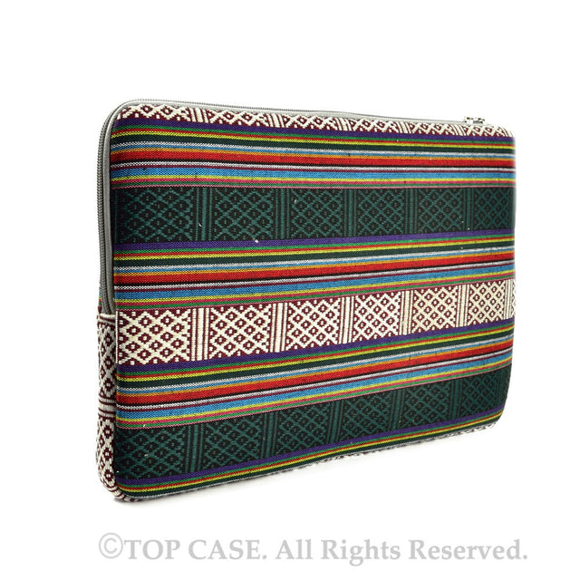 "Bohemian Style Canvas Fabric Laptop Sleeve Bag Case Cover for All 13"" 13-Inch Laptop Notebook / Macbook Pro / Unibody /  Air / Ultrabook / Chromebook - TOP CASE"