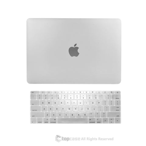 "TOP CASE 2 in 1 – Macbook Retina 12"" Rubberized Case + Keyboard Skin - Clear"