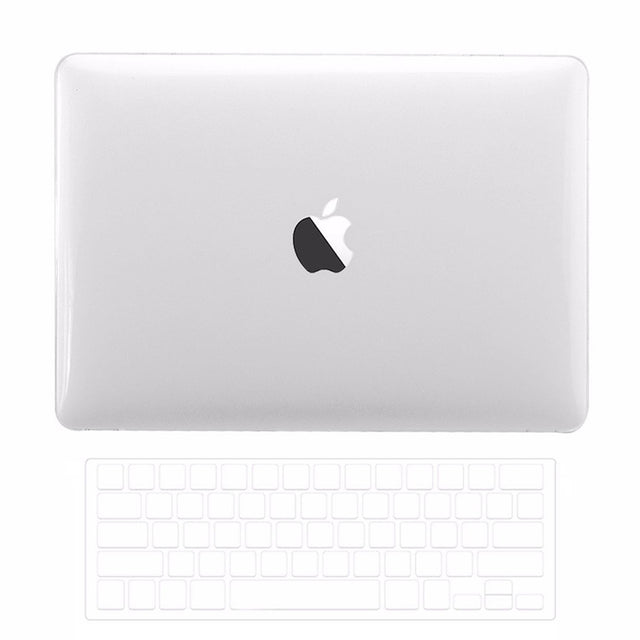 Macbook Pro 13 WITH Touch Bar (2016/17/18 Release) 2 in 1 Bundle, Crystal Clear Hard Case Cover + TPU Keyboard Cover for MacBook Pro 13-inch A1706/A1989 with Touch Bar - Crystal Clear