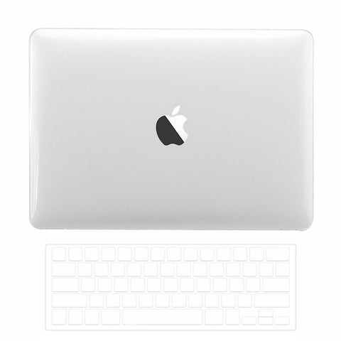 Macbook Pro 13 WITH Touch Bar (2016 Release) 2 in 1 Bundle, Crystal Clear Hard Case Cover + TPU Keyboard Cover for MacBook Pro 13-inch A1706 with Touch Bar - Crystal Clear