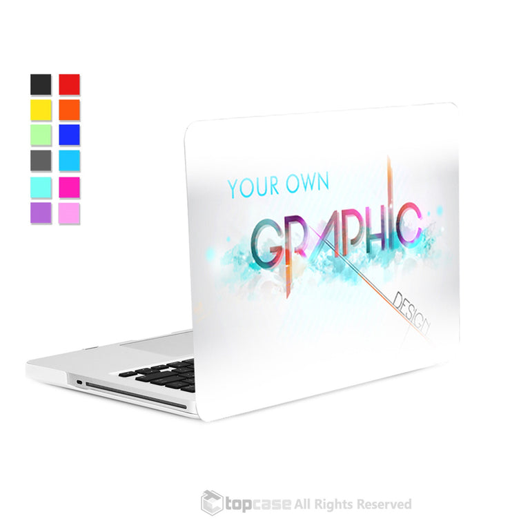 new arrivals 90fa1 0716f TOP CASE - Create Your Own Graphics and Text Customized Hard Shell Case for  Macbook