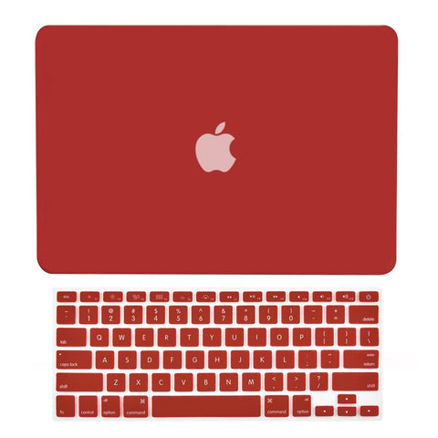 "TOP CASE 2 in 1 - Macbook Pro 13"" Matte Case + Keyboard Skin - Wine Red"