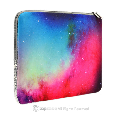 Top Case Pink Galaxy Graphic Zipper Sleeve Bag for All Laptop 13-inch Macbook Air/Pro with or without Retina Display/Ultrabook /Chromebook