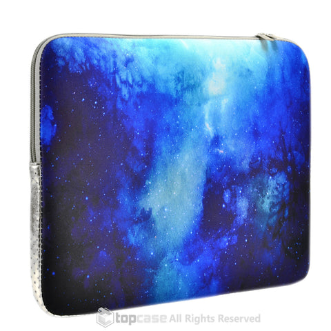 Top Case Blue Galaxy Graphic Zipper Sleeve Bag for All Laptop 13-inch Macbook Pro with or without Retina Display / Macbook Air /Ultrabook / Chromebook