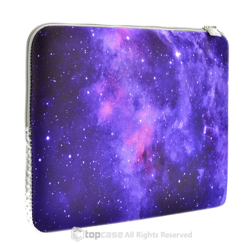 Top Case Purple Galaxy Graphic Zipper Sleeve Bag for All Laptop 13-inch Macbook Air/Pro with or without Retina Display/Ultrabook/Chromebook