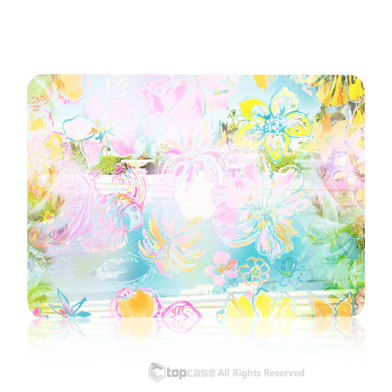 "TOP CASE - Vibrant Summer Series Rubberized Hard Case Cover for Macbook Air 13"" - Tropical Dance"