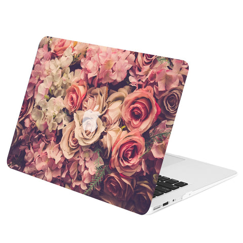 "Air 11-Inch Floral Pattern Rubberized Hard Case for Macbook Air 11"" Model: A1370 / A1465 - Lavish Floral"