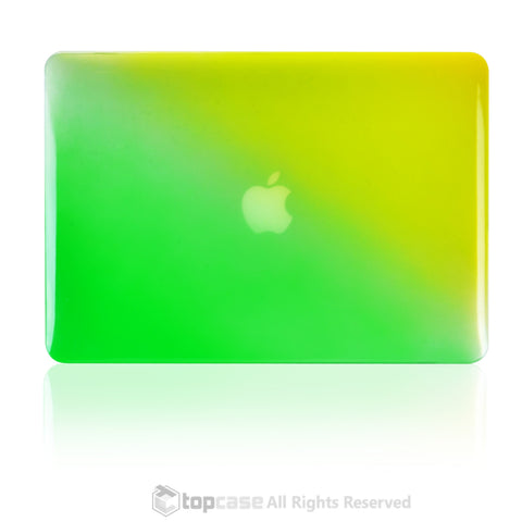 "Faded Ombre Yellow & Green UV High Glossy Hard Case for MacBook Air 13"" - TOP CASE"