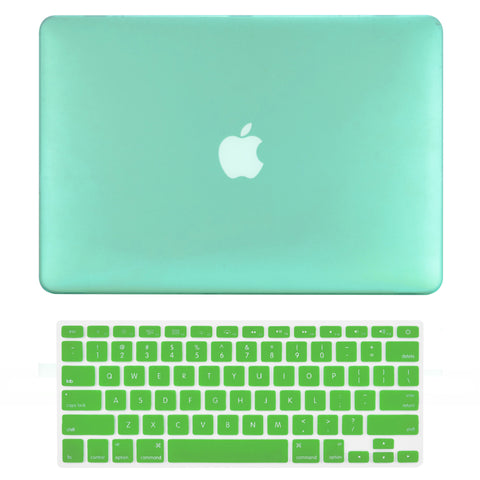 "TOP CASE 2 in 1 - Macbook Pro 15"" Matte Case + Keyboard Skin - Green"