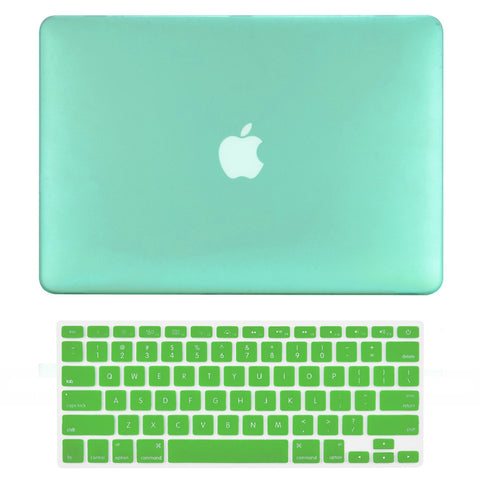 "TOP CASE 2 in 1 - Macbook Air 13"" Rubberized Case Cover + Keyboard Cover - Green"