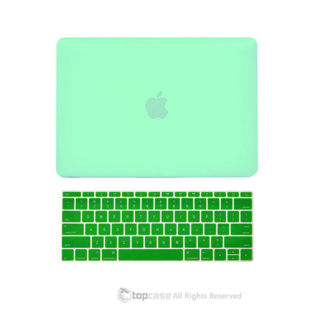 "TOP CASE 2 in 1 – Macbook Retina 12"" Rubberized Case + Keyboard Skin - Green"