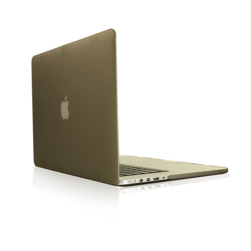 "Grey Rubberized Hard Case for NEW Macbook Pro 15"" A1398 with Retina display - TOP CASE"