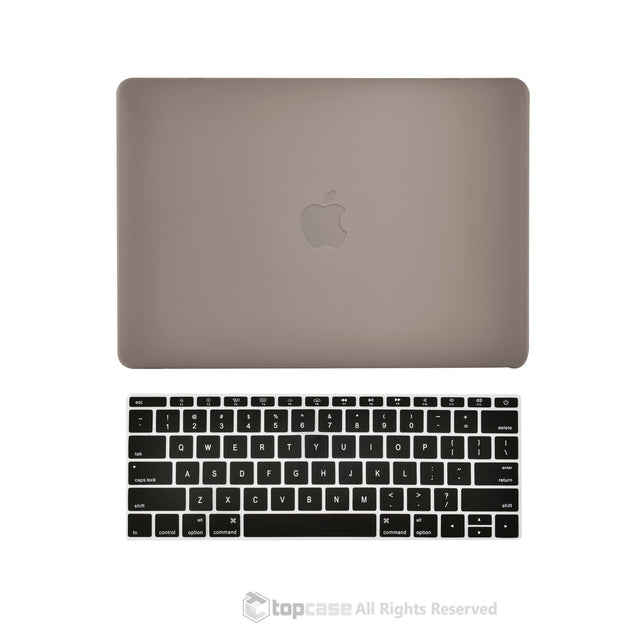 "TOP CASE 2 in 1 – Macbook Retina 12"" Rubberized Case + Keyboard Skin - Gray"