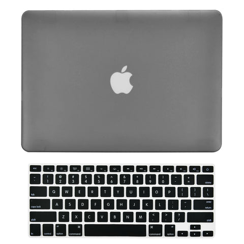 "TOP CASE 2 in 1 - Macbook Air 13"" Rubberized Case Cover + Keyboard Cover - Gray"