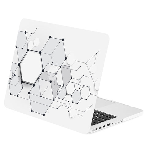 TOP CASE - Geometric 3D Hexagon Graphics Rubberized Hard Case Cover for Macbook Retina 13""