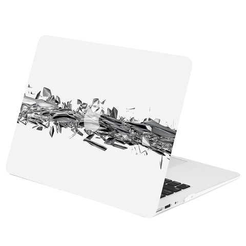 TOP CASE - Geometric 3D Shattered Diamond Graphics Rubberized Hard Case Cover for MacBook Air 13""