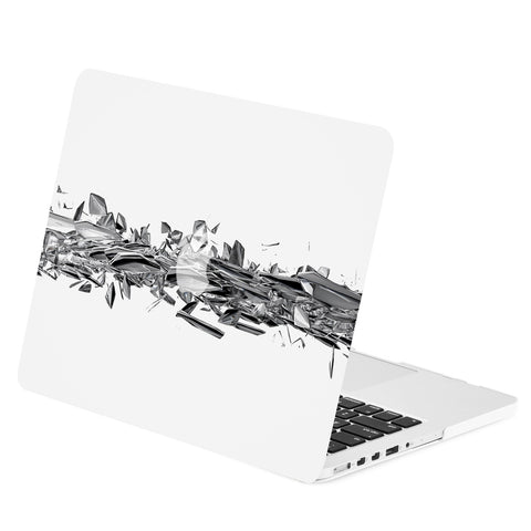 TOP CASE - Geometric 3D Shattered Diamond Graphics Rubberized Hard Case for Macbook Retina 13""