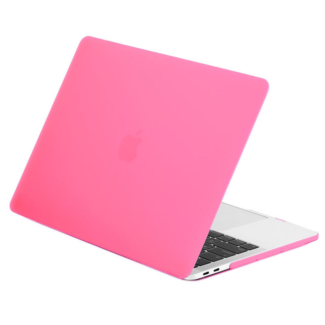 Rubberized Matte Hard Case Cover for MacBook Pro 15-inch Model A1707/A1990 with Touch Bar ( Release 2016/17/18 ) - Hot Pink