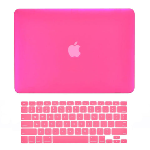 "TOP CASE 2 in 1 - Macbook Air 13"" Rubberized Case Cover + Keyboard Cover - Hot Pink"
