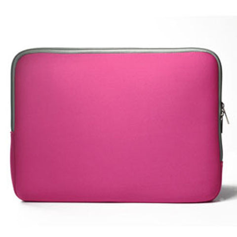 "Zipper Hot Pink Sleeve Bag Cover for Macbook 12"" 12-Inch Model: A1534 Retina Noteboook"