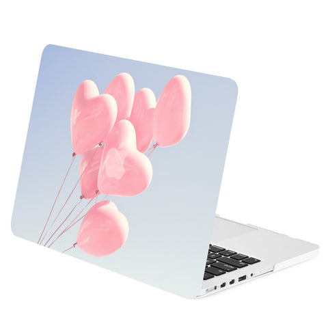 TOP CASE - Heart Shape Balloons Graphics Rubberized Hard Case Cover for Macbook Retina 15""