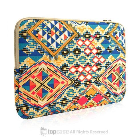 "Bohemian Style Canvas Fabric Laptop Sleeve Bag Case Cover for All 13"" 13-Inch Laptop Notebook / Macbook Pro / Unibody/Air/ Ultrabook / Chromebook - TOP CASE"