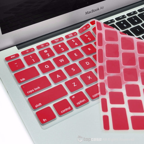 "Wine Red Keyboard Silicone Cover Skin for Macbook Air 11"" Model: A1465"