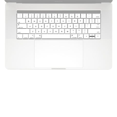 "2016 Macbook Pro Keyboard Cover, Ultra Slim Silicone Keyboard Cover Skin for Macbook Pro 13"" 15"" WITH Touch Bar A1706 / A1707 (2016 Release) - White"