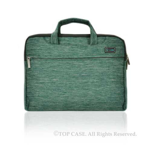 "Green Nylon Lycra Fabric Carrying Sleeve Bag Briefcase for 11"" 11-Inch Apple Macbook Air - TOP CASE"
