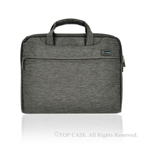 Gray Nylon Lycra Fabric Carrying Sleeve Bag Briefcase for all 13-Inch Laptops/Chromebooks/Ultrabooks/Apple Macbooks - TOP CASE