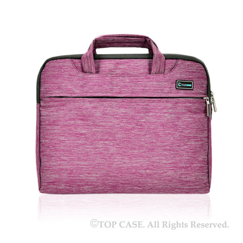 Light Purple Nylon Lycra Fabric Carrying Sleeve Bag Briefcase for all 15-Inch Laptops/Chromebooks/Ultrabooks/Apple Macbooks - TOP CASE