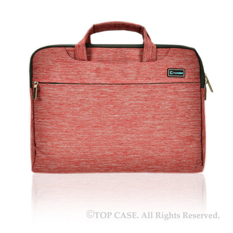 Red Nylon Lycra Fabric Carrying Sleeve Bag Briefcase for all 15-Inch Laptops/Chromebooks/Ultrabooks/Apple Macbooks
