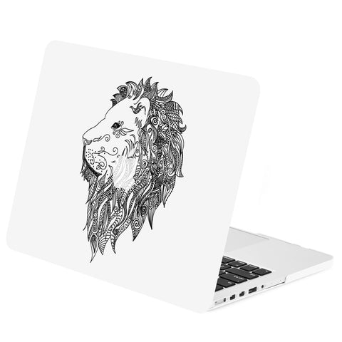 "TOP CASE - Vector Pattern Rubberized Hard Case Cover for Macbook Pro 15"" with Retina - Lion"