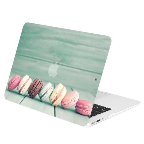 TOP CASE - Macaroon Graphics Rubberized Hard Case Cover for MacBook Air 13""