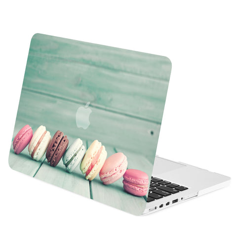 "TOP CASE -Macaroon Graphics Rubberized Hard Case Cover for Macbook Pro 15"" with Retina"